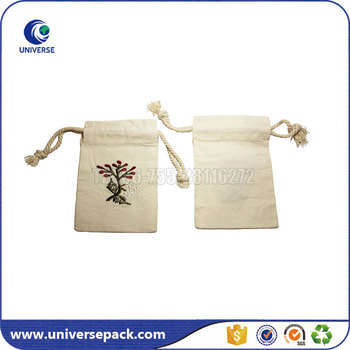 Reusable Embroidered Natural Muslin Tea Bags With Drawstring Empty Bag Product On Alibaba