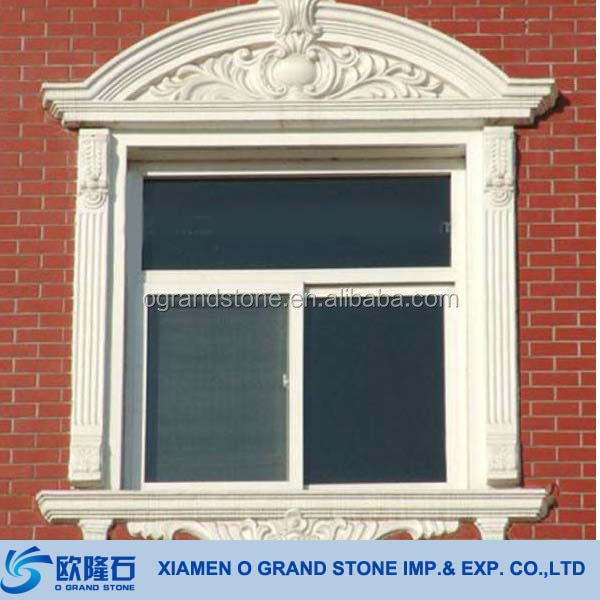 French Decorative Window Frames Natural Granite Stone