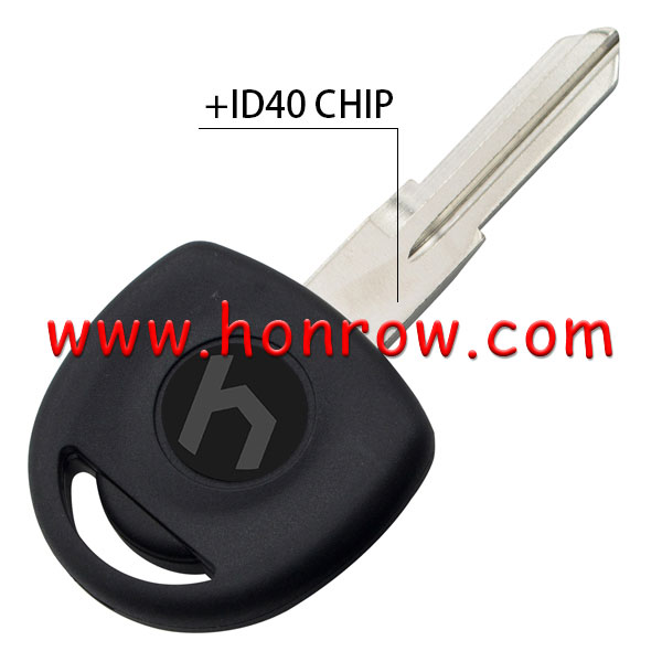 High quality For Opel transponder key with left blade(ID40 Chip) programmer