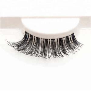 The world beauty 100% remy human hair made false eyelashes pack