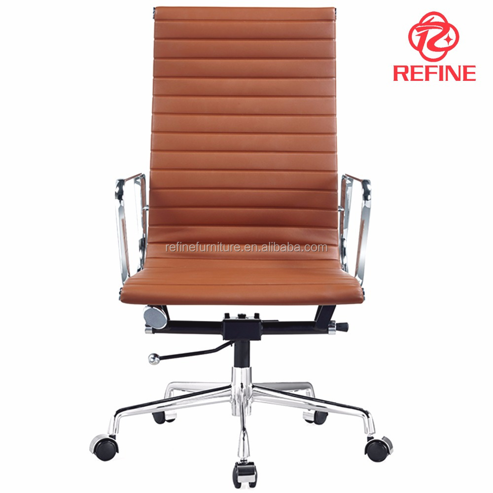 Hs Code Modern High Back Brown Pu Leather Swivel Executive Office