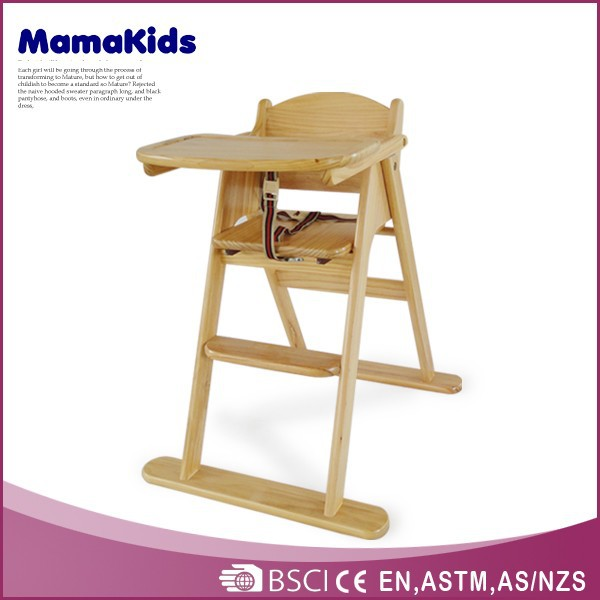professional baby high chair wood