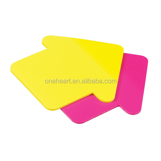 Custom Colorful & Unique Arrow Sticky Note for Promotion, Die Cut Shaped Sticky Note