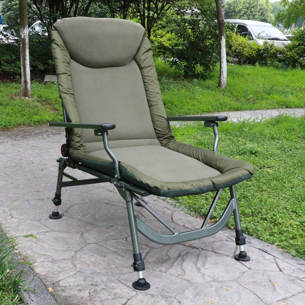 Get Quotations Yxyh Camping Chairs Padded Comfortable Relax Rocking Chair Footrest Design Lounge Recliner Side Storage