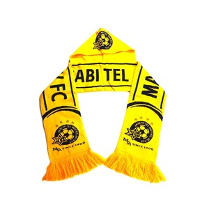 High quality handmade unisex knitted scarf design your own soccer scarf
