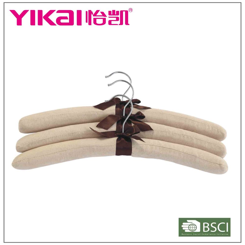 Set of 3 pcs bridal fabric pure colors padded hangers