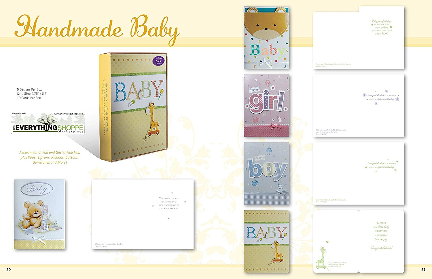 Buy Assorted Congratulations Wishes For Baby Cards Box Set 8 Pack