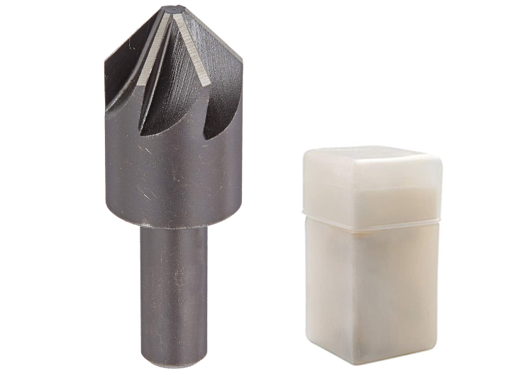 Cylindrical Shank 90 Degree 6 Flute HSS Countersink Drill Bit  for Metal Deburring