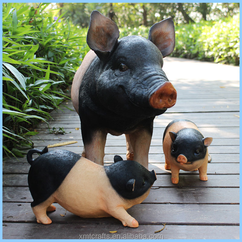 Simulation resin furnishing articles the pig ,Outdoor garden decoration