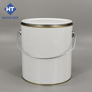 wholesale 1 gallon clear paint can with lid and handle for paint glue 1 gallon clear paint can