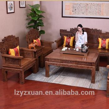 Best Quality Natural Wood Color Living Room Furniture Royal Sofa Sets Part 81