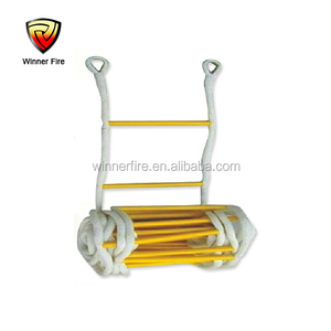 10 meter Portable Emergency Safety Rope Ladder For 3-4th floor Firefighting And Escaping