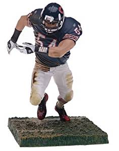 McFarlane Toys NFL Sports Picks Series 9 Action Figure Brian Urlacher (Chicago Bears) Blue Jersey White Pants by McFarlane Toys