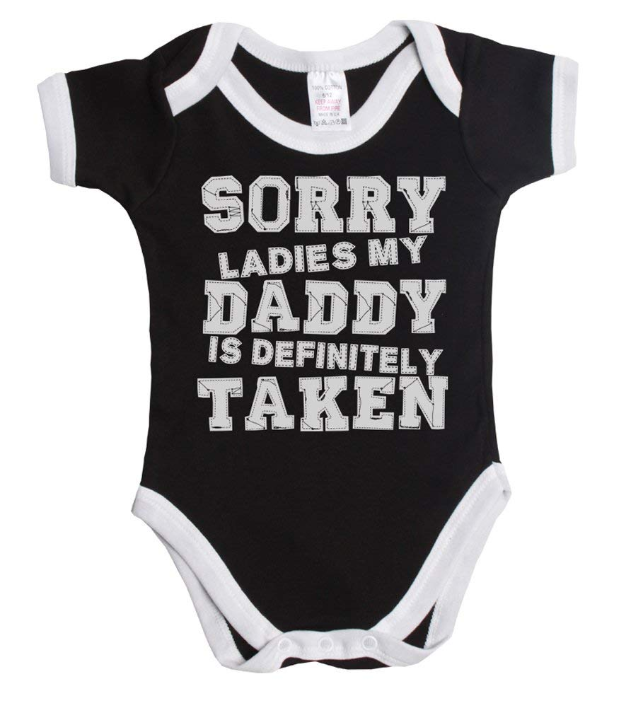 7cd3d9f99d9 Get Quotations · Sorry ladies my daddy is definitely taken funny baby boy girl  babygrow vest ~