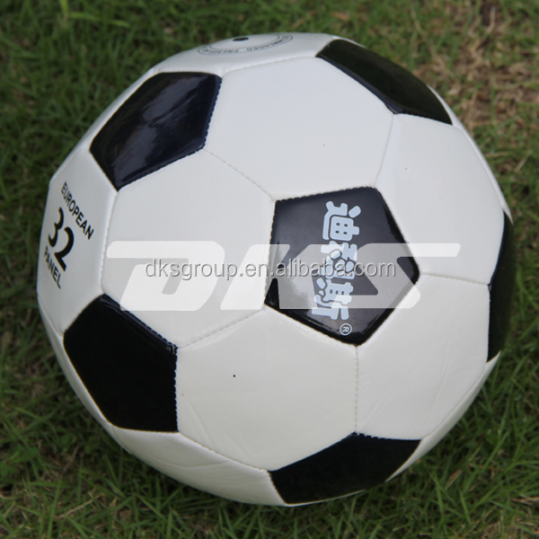 Official size PVC soccer ball with latex bladder