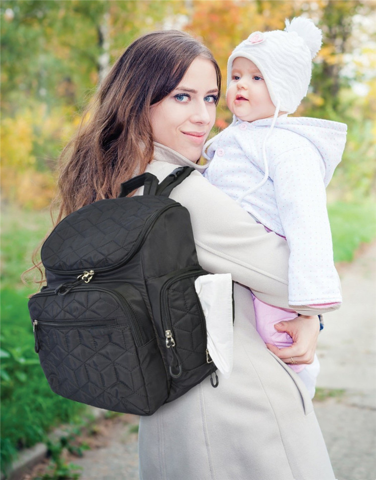 Baby Diaper Bag Organizer with Stroller Straps and Changing Pad Mummy Backpack