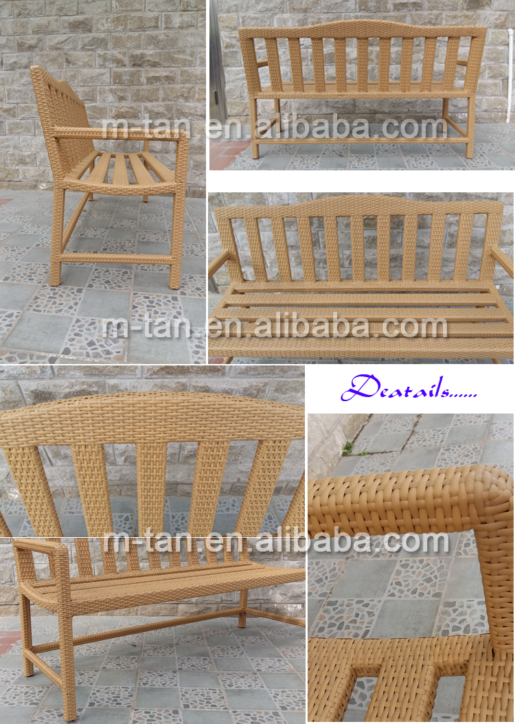 Uv Resistant Pe Rattan Patio Leisure Bench Use For Garden Or Park ...