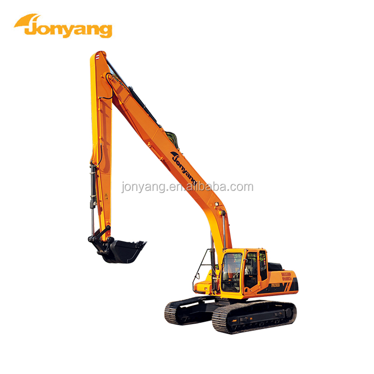 JY623ELB hydraulic new arrival used long arm excavator