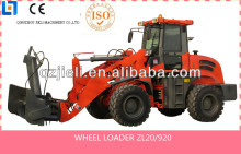 Qingzhou jieli front end loader,2.0tons-2000kg wheel loader with ce