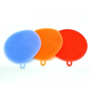 High Quality Colorful Heat-Resistant Silicone Dishwashing Brush