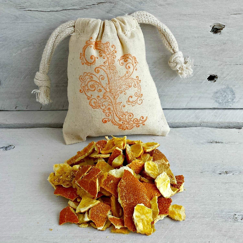 Organic Orange Herbal Sachets | Dried Orange Peel Sachets | Orange Potpourri Sachet | Orange Wedding Favors | Scented Drawer Sachets