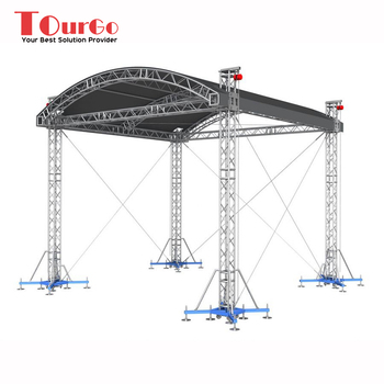 Tourgo Outdoor Aluminum Concert Stage Curved Roof Truss Design - Buy Curved  Roof Truss Design,Concert Stage Truss Design,Outdoor Aluminum Truss Design
