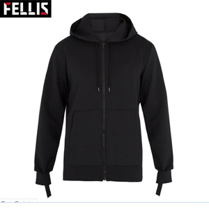 Custom Made Fashion Plain Slim Fit Hoodies Zip Up Hoodie Unisex
