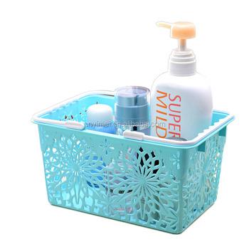 Rectangle Hollow Plastic Storage Basket With Handle Bathroom Portable Sundries Plastic Basket  sc 1 st  Alibaba & Rectangle Hollow Plastic Storage Basket With Handle Bathroom ...