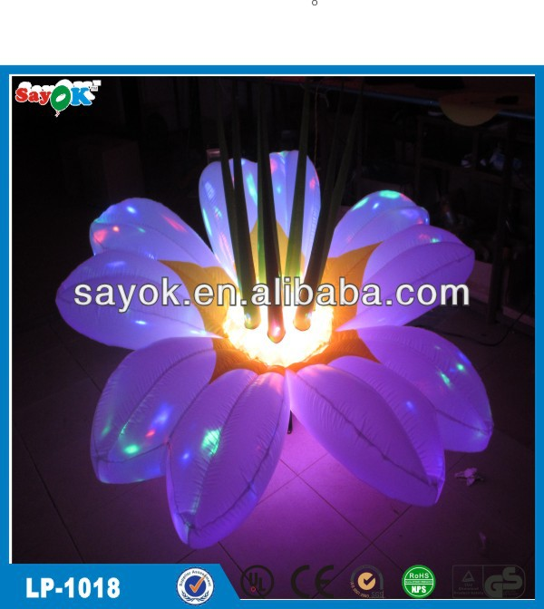 Christmas inflatable flower inflatbles with light
