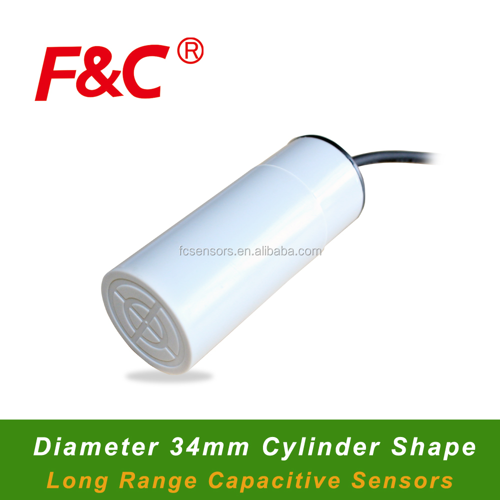 FKC3430 Series Diameter 34mm Capacitive Proximity Sensor, Sensing Range 30mm, Long Range Capacitive Sensor.