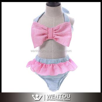 4c44a8a8fa New Design Monogrammed Seersucker Kids Swimwear - Buy Kids ...