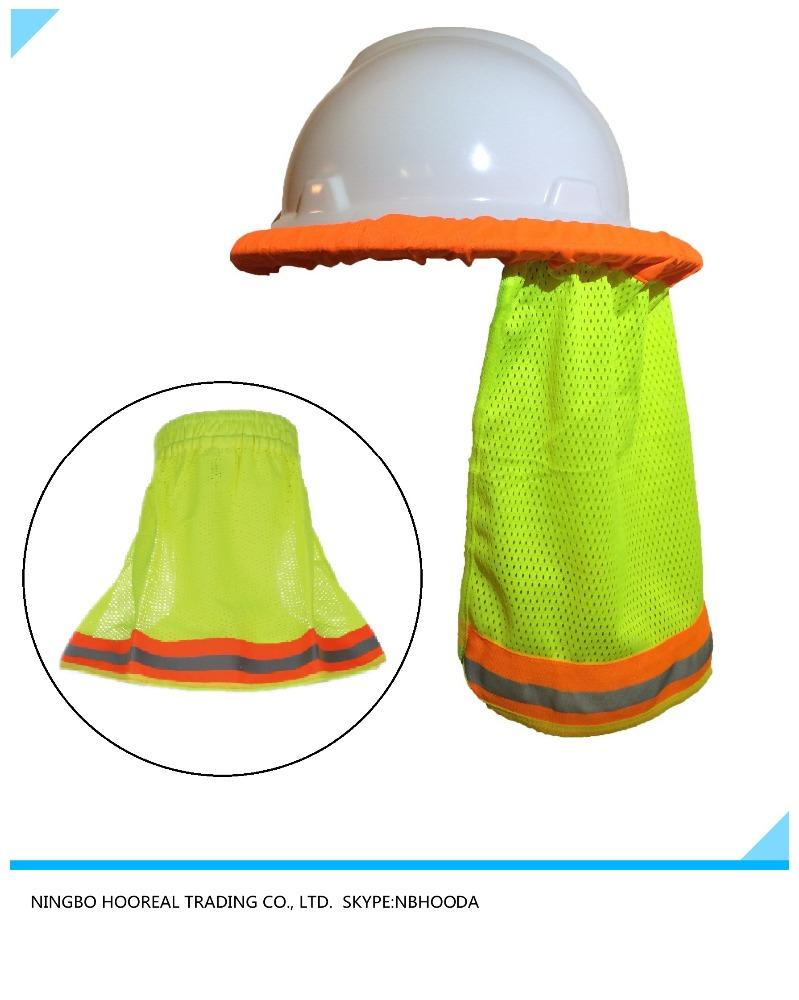 46867b75b17e2 safety hard hat neck shield   helmet sun shade hi vis reflective stripe