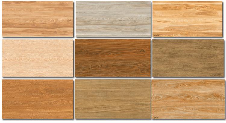 Home Wood Color Ceramic Floor Tile Imitation