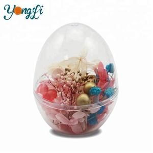Wholesale Decoration Plastic Transparent Easter Egg Shaped Container