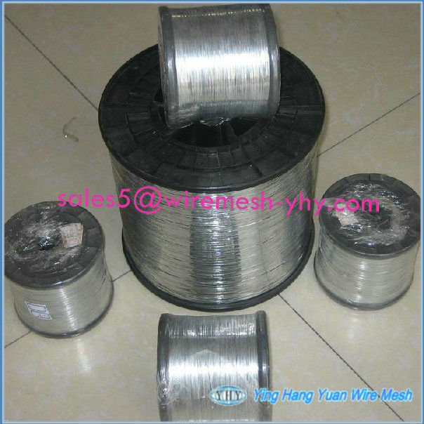 Electro galvanized iron fence wire with plastic spool