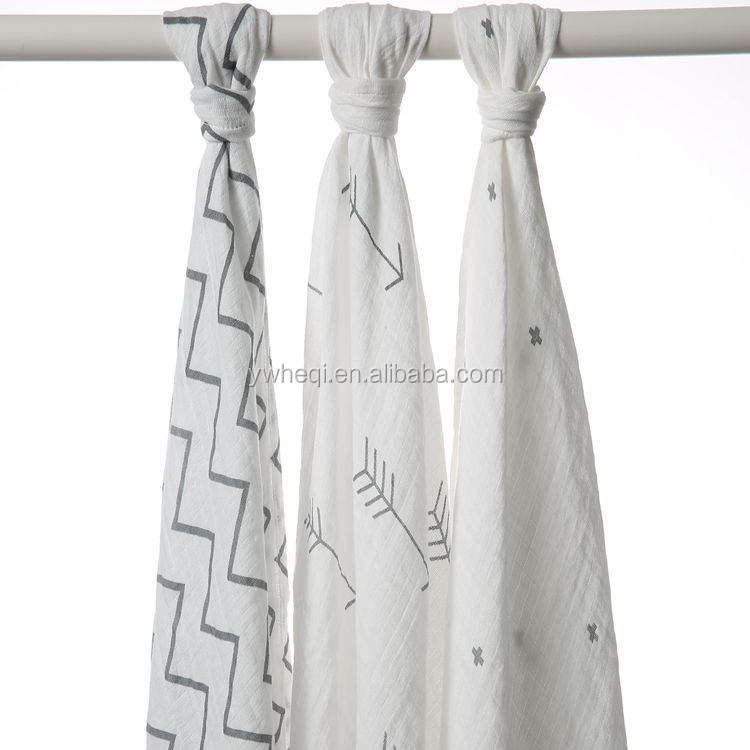 100% Organic cotton Muslin Baby Swaddle Blanket
