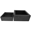 Frost Proof Fiber Clay low cube planter set