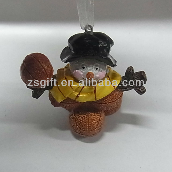 wonderful hand-painted polyresin snowman crafts christmas tree decorations