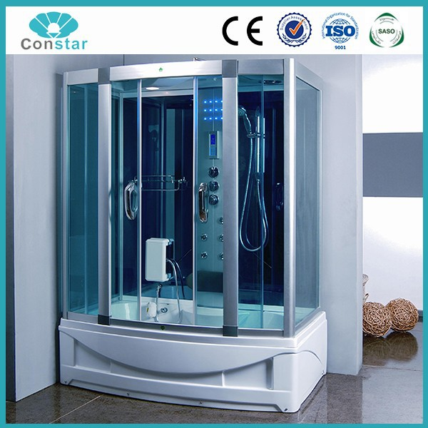 150x90 UK market trading company bathroom portable prefab cheap steam shower