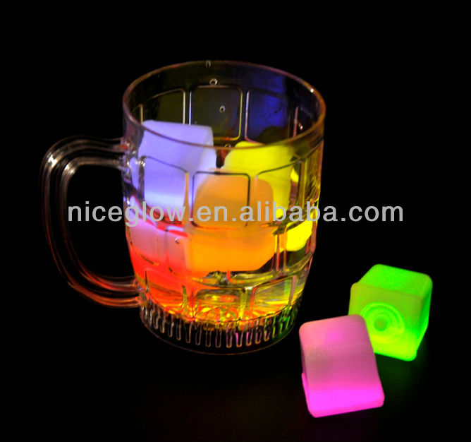 colorful lighted glow ice cube for party bar buy glow ice cube