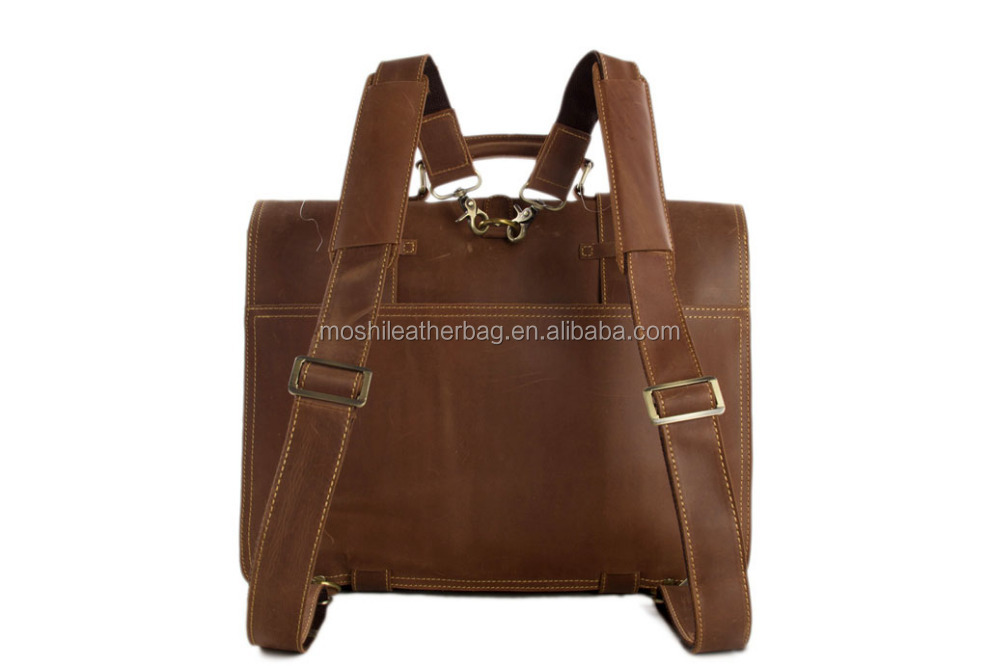 90e881b0620 Multi-purpose Adjustable Large Genuine Leather Men Messenger Bag with Flap