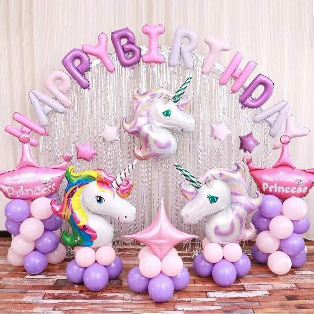16 Kinds Themed Party Supplies Unicorn Theme Birthday Decoration Set For Children