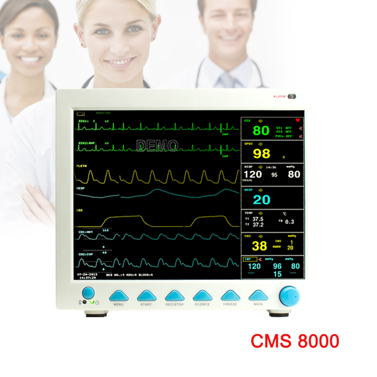 Real China fabricante médica CONTEC multiparapatient CMS8000 CE FDA monitor de paciente