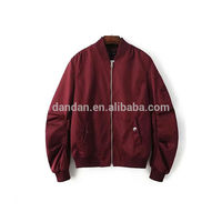 Men's nylon shell fabric quilting inside lining bomber jacket