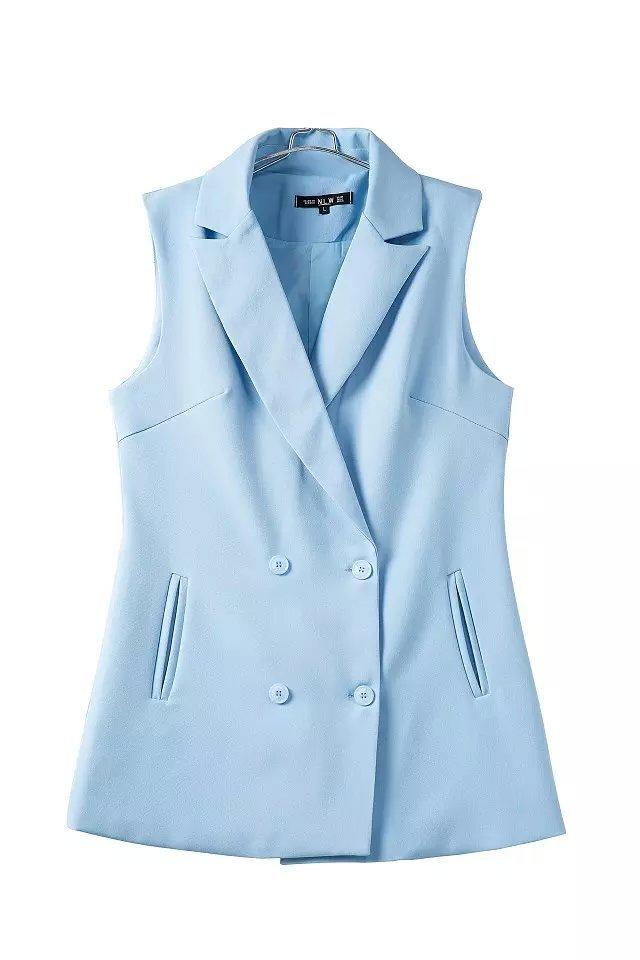 3b510ef3a27c68 Get Quotations · ladies elegant office suit vest 2015 autumn new fashion  sky blue veste coats hipster tank coat