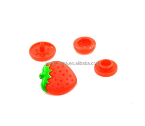 Hot baby online shop for fabric snap button/ fabric fasteners/customized colorful strawberry shape using for baby diaper