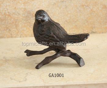 Cast Iron Garden Animal Decor Bird
