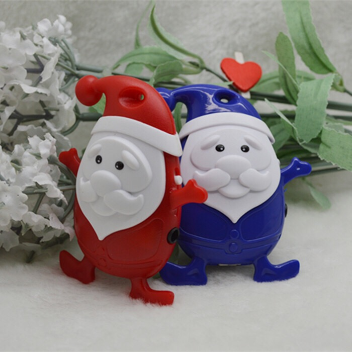 Wholesale Quality Stereo Santa Claus MP3 Music Player with TF Card Slot for leisure no accessories