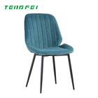 wholesale Style Home Furniture Velvet Chair Restaurant Use metal legs Dining Chair