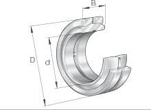 GE 80 DO radial spherical plain bearing GE80-DO GE80DO sizes 80x120x55 mm